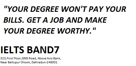 a degree is not enough, you need money as well.