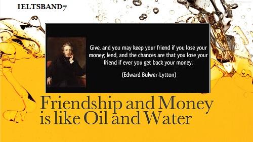 Friendship or money essay