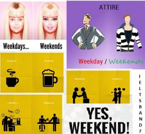 weekends/weekdays