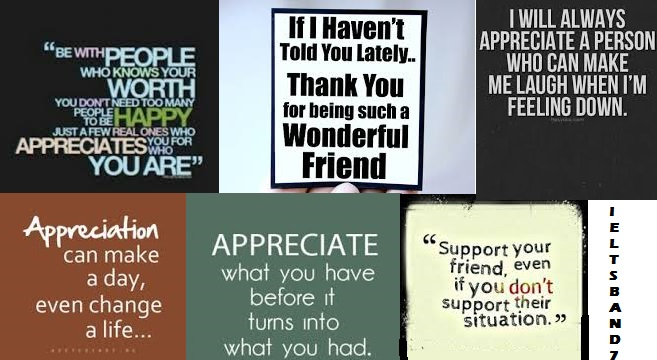 appreciating friendship