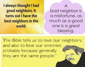 good neighbor bad neighbor essay