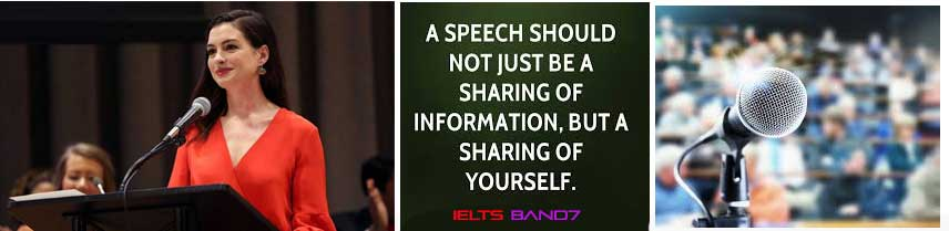 IELTS CUE CARD #A speech that somebody delivered and you heard IELTS BAND7 DEHRADUN