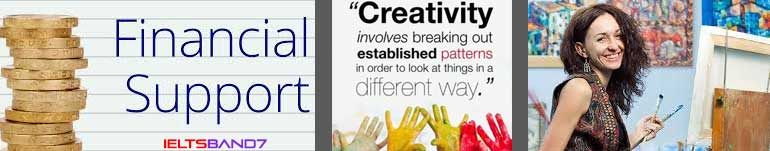 IELTS ESSAY #FINANCIAL SUPPORT TO CREATIVE ARTISTS, IELTSBAND7 DEHRADUN