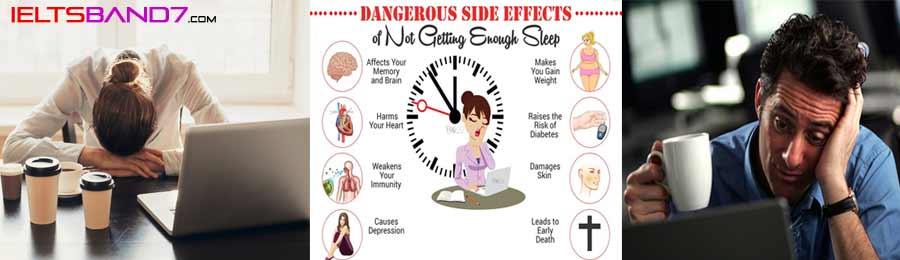 IELTS Writing Sample Questions # Less Sleep - IELTS BAND7