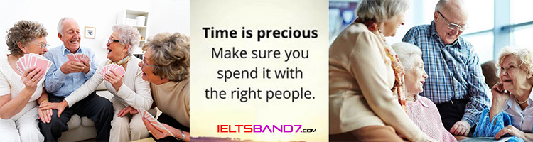 How do old people spend their leisure time?Who they spend it with?How often do they do it?How do they like it?